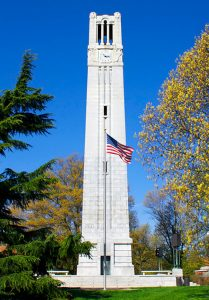 NC State University belltower